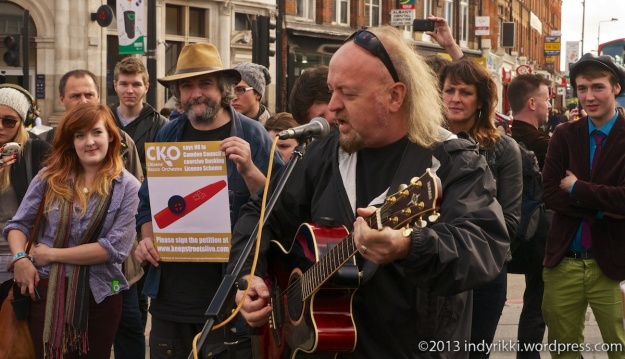 24th october 2013 camden protest over proposed anti-busking law