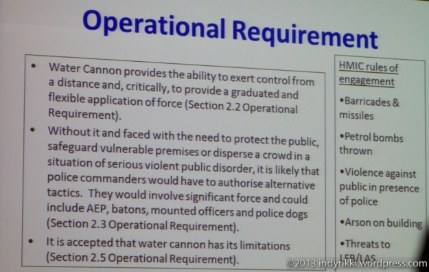 GLA public consultation Metropolitan Police plans to buy German water cannons