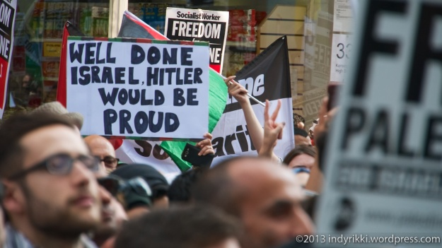 22nd july 2014 gaza protest at israeli embassy