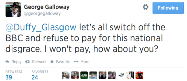 Galloway licence fee
