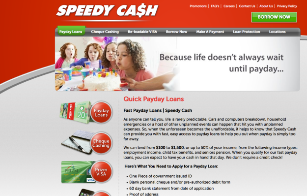 speedy cash webpage