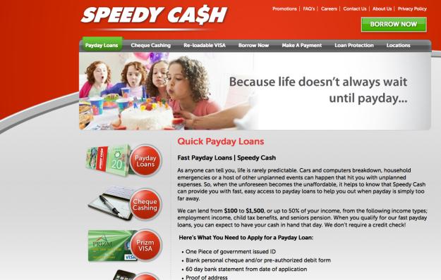 speedy cash webpage