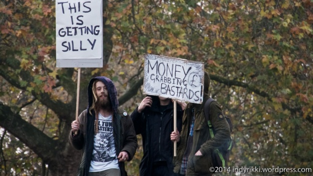 19th nov 2014 student's national march against fees and cuts