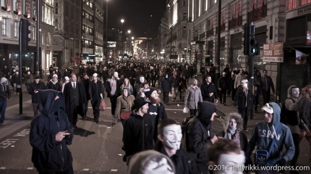 5th november 2014 anonymous million mask march across london