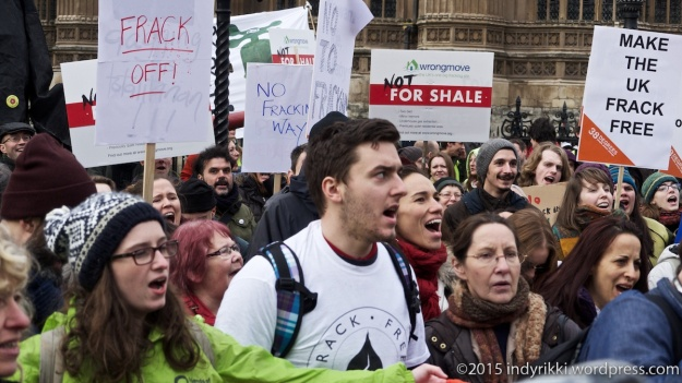 26th jan 2015 #binthebill anti-fracking rally outside parliament