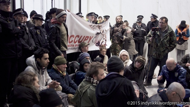 28th march 2015 #occupymurdoch activists at the Sun HQ near the Shard