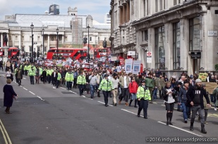 9th april 2016 grassroots protest at downing street and a tory meeting after tax revelations about cameron