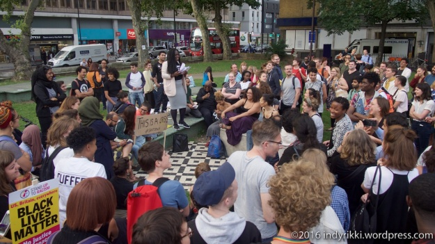 5th August 2016 ¢blacklivesmatter rally in Altab Ali Park, Whitechapel